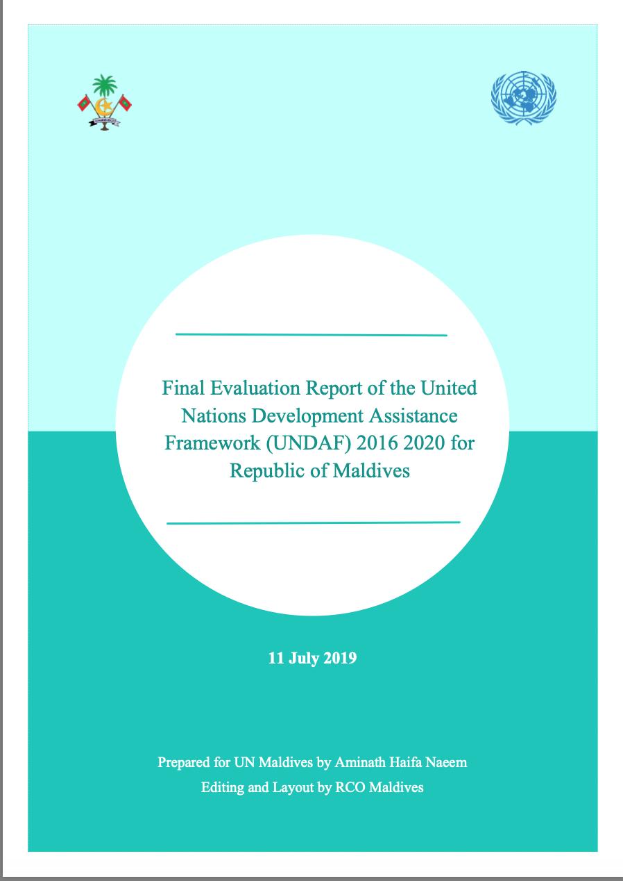 Final Evaluation Report of the UN Development Assistance Framework (UNDAF) 2016-2020